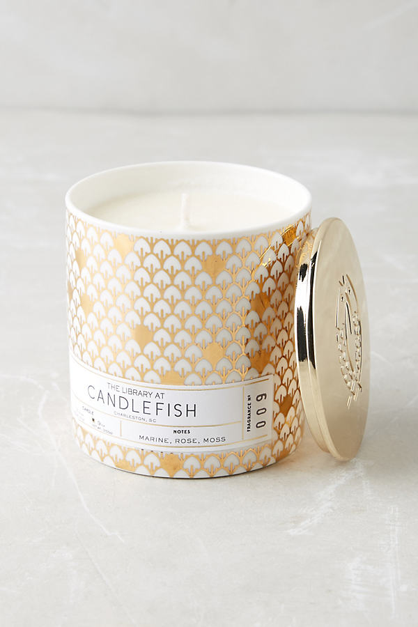 Candlefish Ceramic Candle - Gold