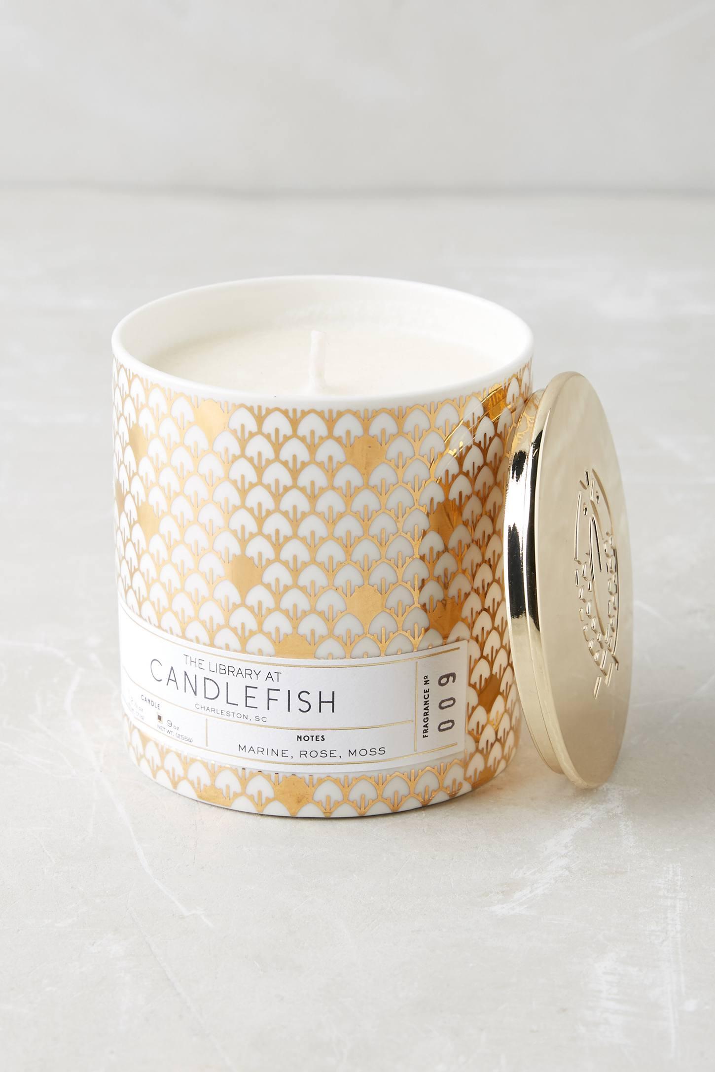 Candlefish Ceramic Candle Anthropologie