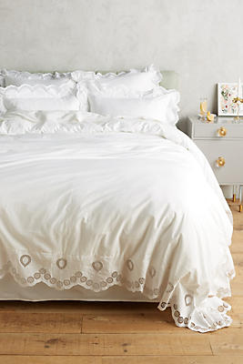 Slide View: 1: Eyelet Embroidered Duvet Cover