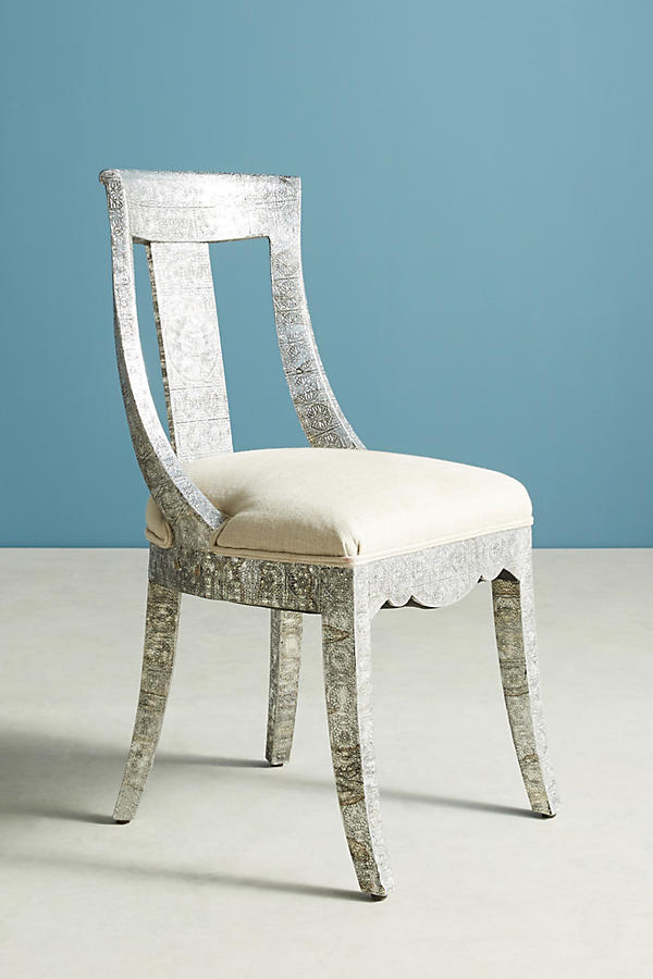 Slide View: 2: Hand-Embossed Dining Chair