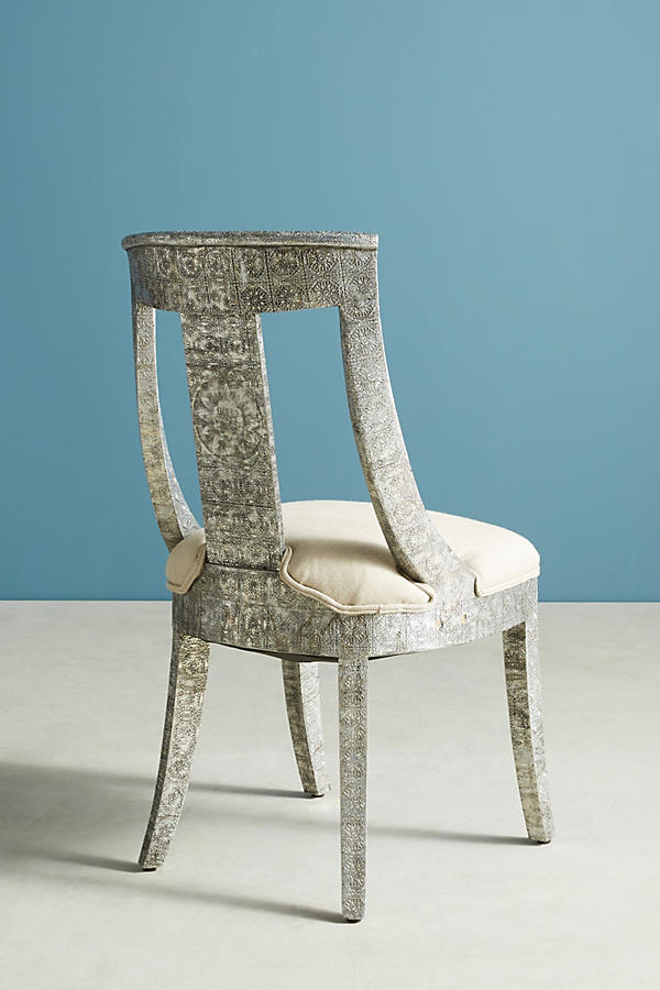Slide View: 4: Hand-Embossed Dining Chair