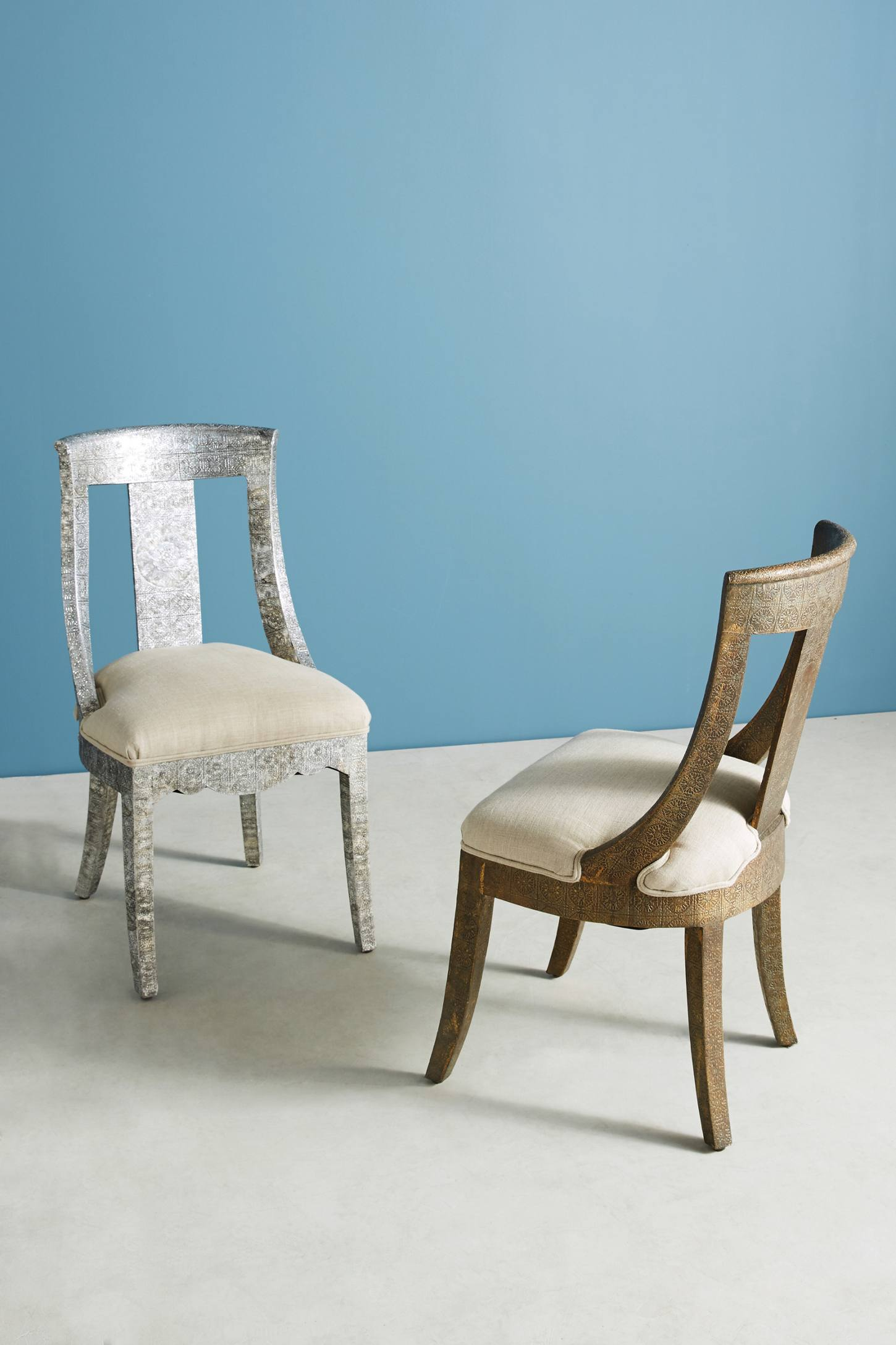 Slide View: 5: Hand-Embossed Dining Chair
