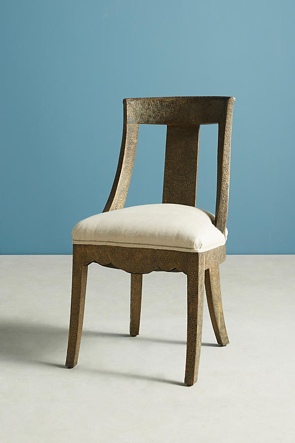 Slide View: 3: Hand-Embossed Dining Chair