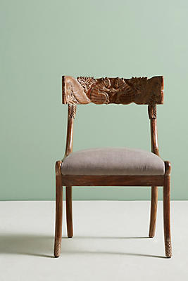 Slide View: 1: Handcarved Fable Dining Chair