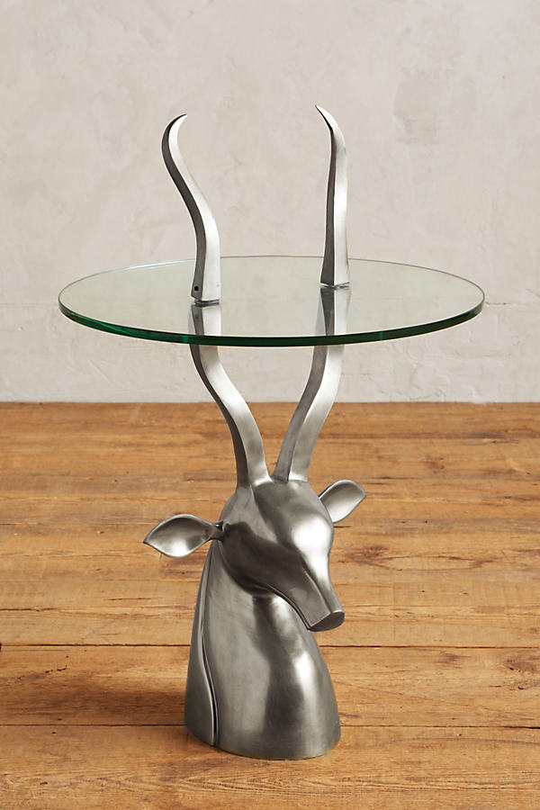 Ibex Side Table - Silver