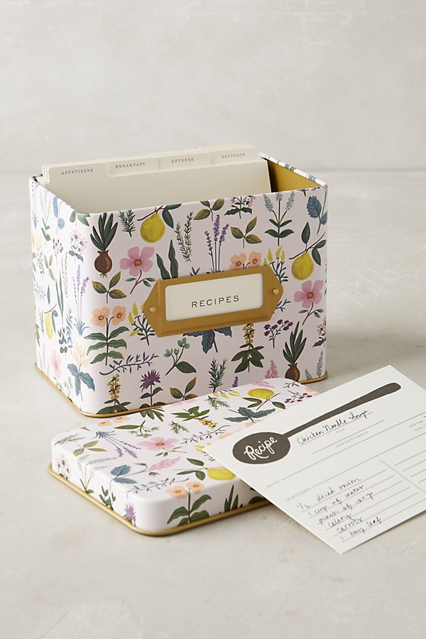 Spring Garden Recipe Tin Anthropologie