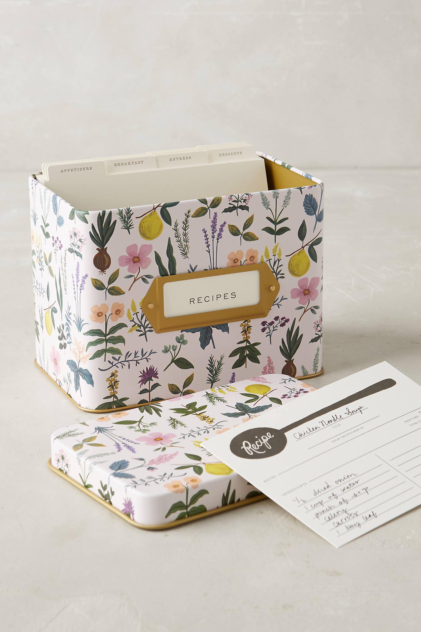 Spring Garden Recipe Tin