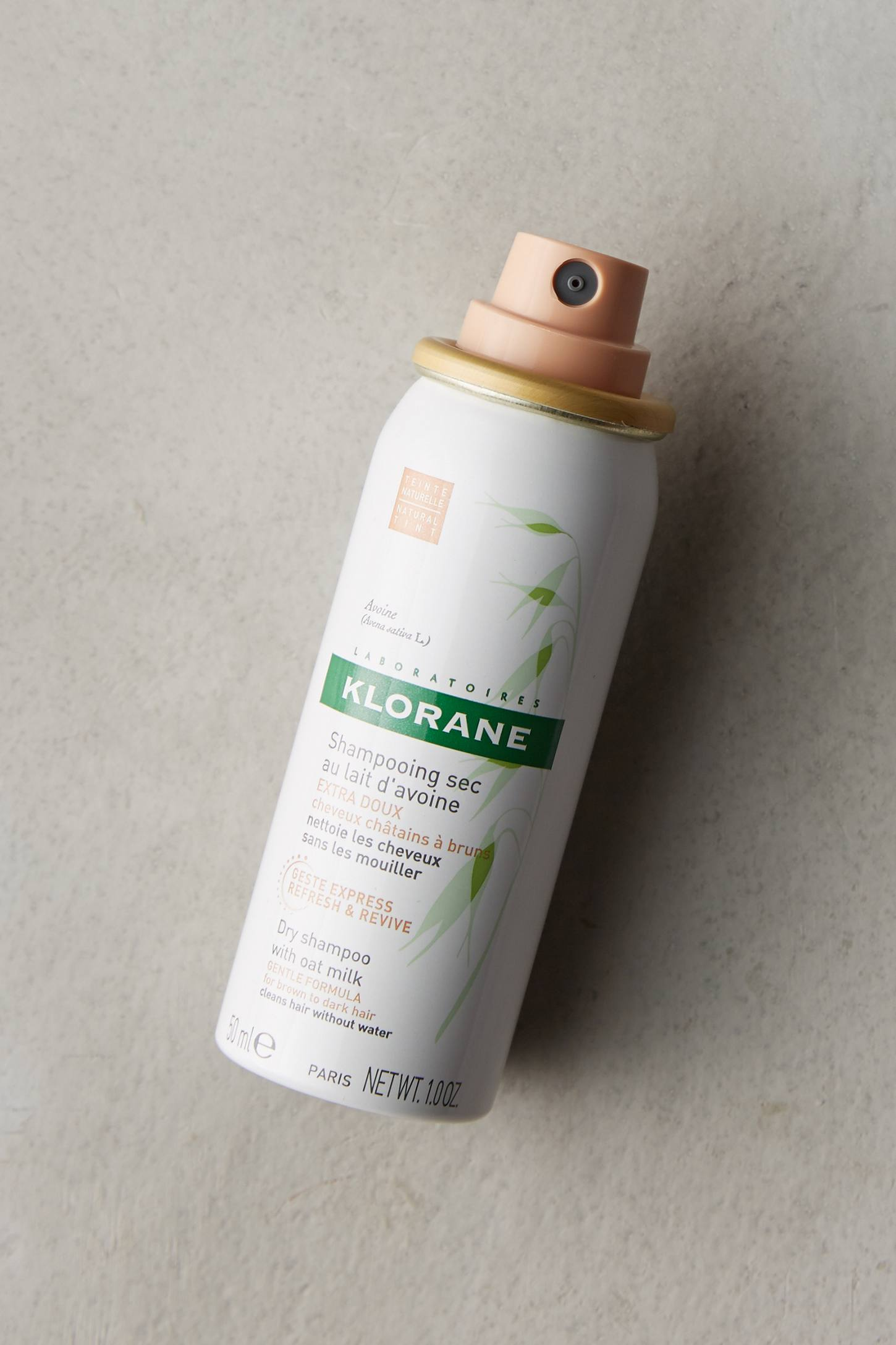 Slide View: 1: Klorane Dry Shampoo With Oat Milk, Natural Tint