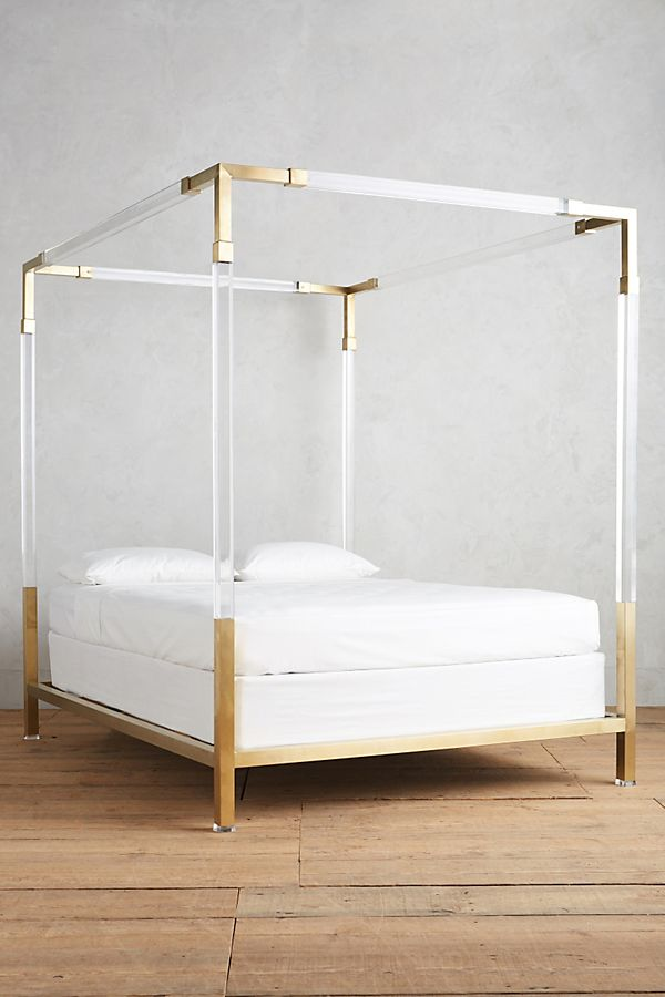 Slide View 2 Oscarine Lucite Four Poster Bed