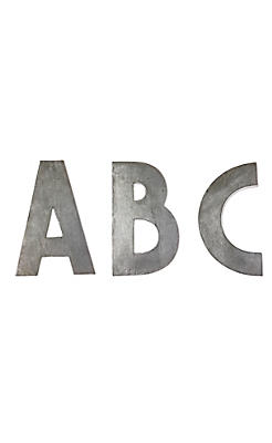 Large Zinc Letters Zinc Letters  Anthropologie