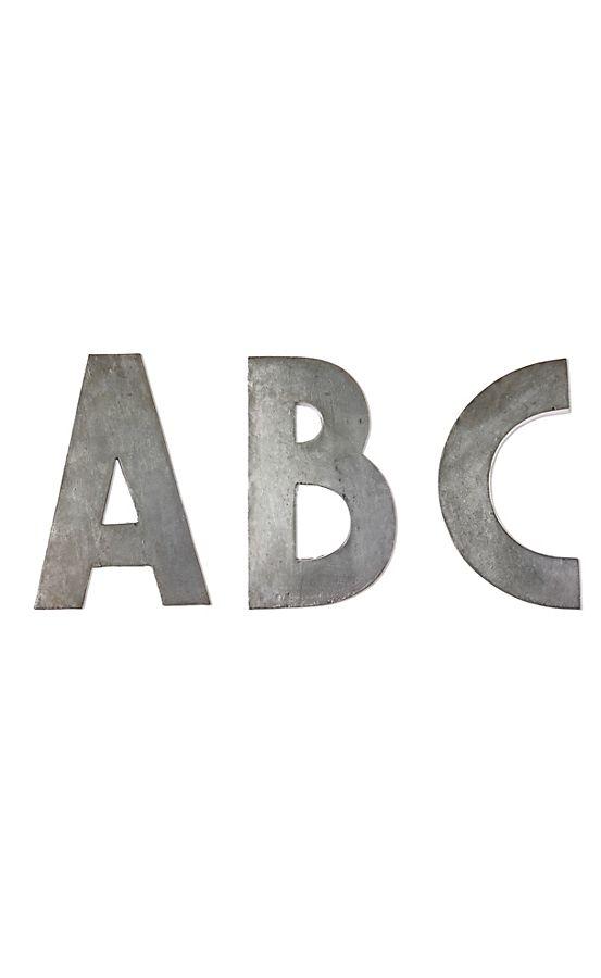 zinc letters anthropologie