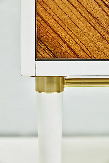 Slide View: 6: Geo-Marquetry Nightstand