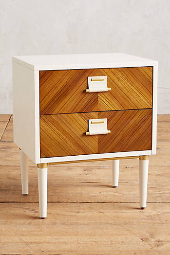 Slide View: 1: Geo-Marquetry Nightstand
