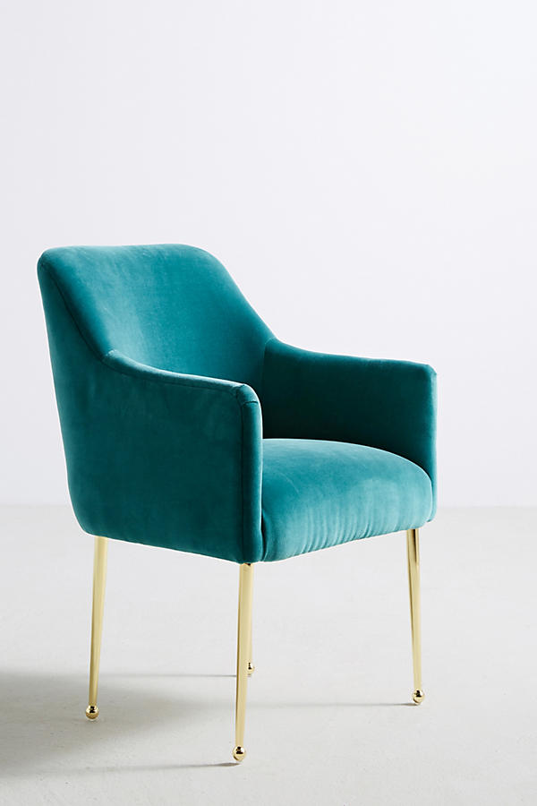 Slide View: 2: Velvet Elowen Armchair