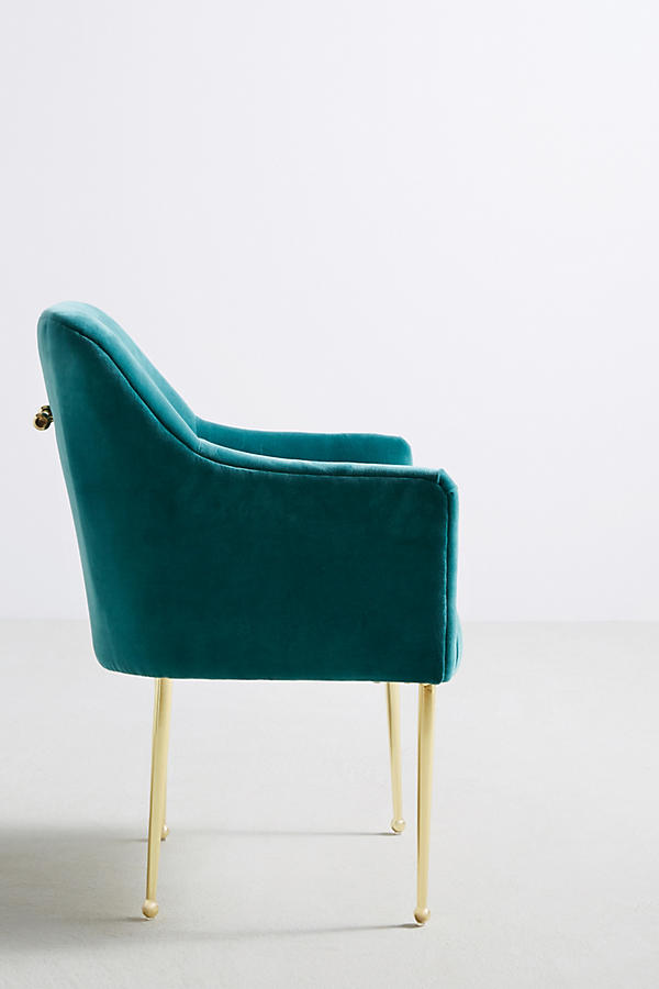 Slide View: 3: Velvet Elowen Armchair
