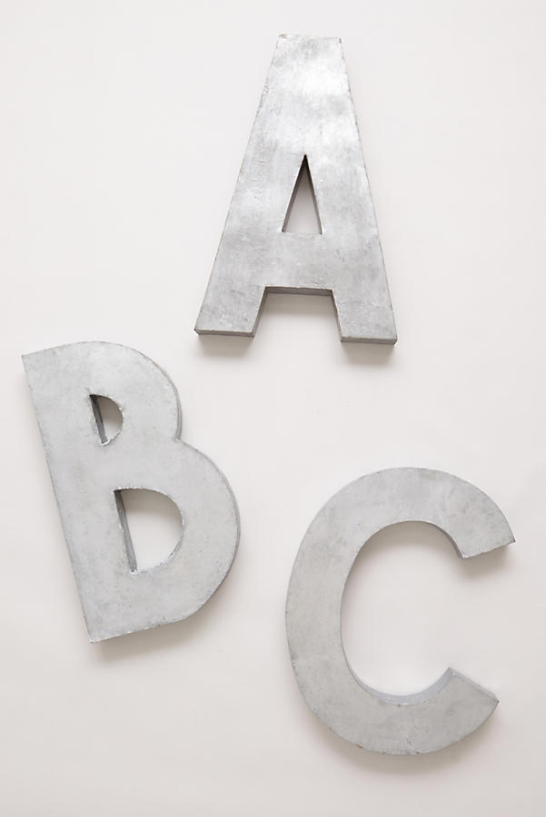 Slide View: 1: Oversized Zinc Letters
