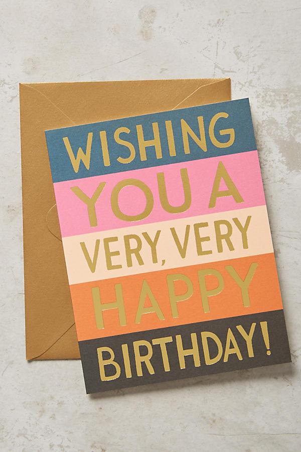 Very Happy Birthday Card | Anthropologie