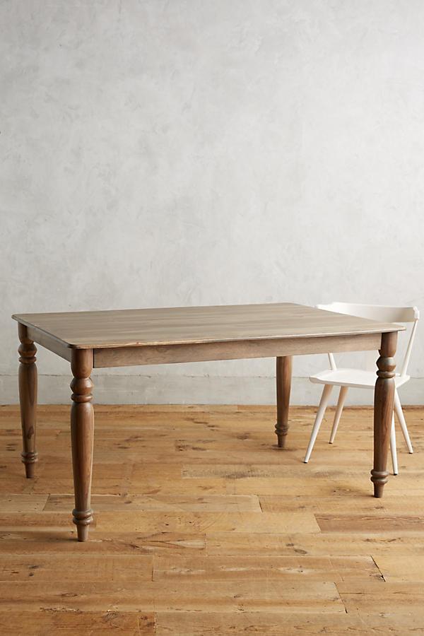 Polished sheesham dining table anthropologie for Sheesham dining table