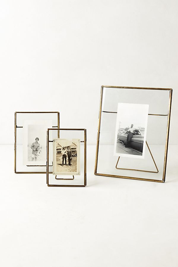 Slide View: 1: Pressed Glass Photo Frame