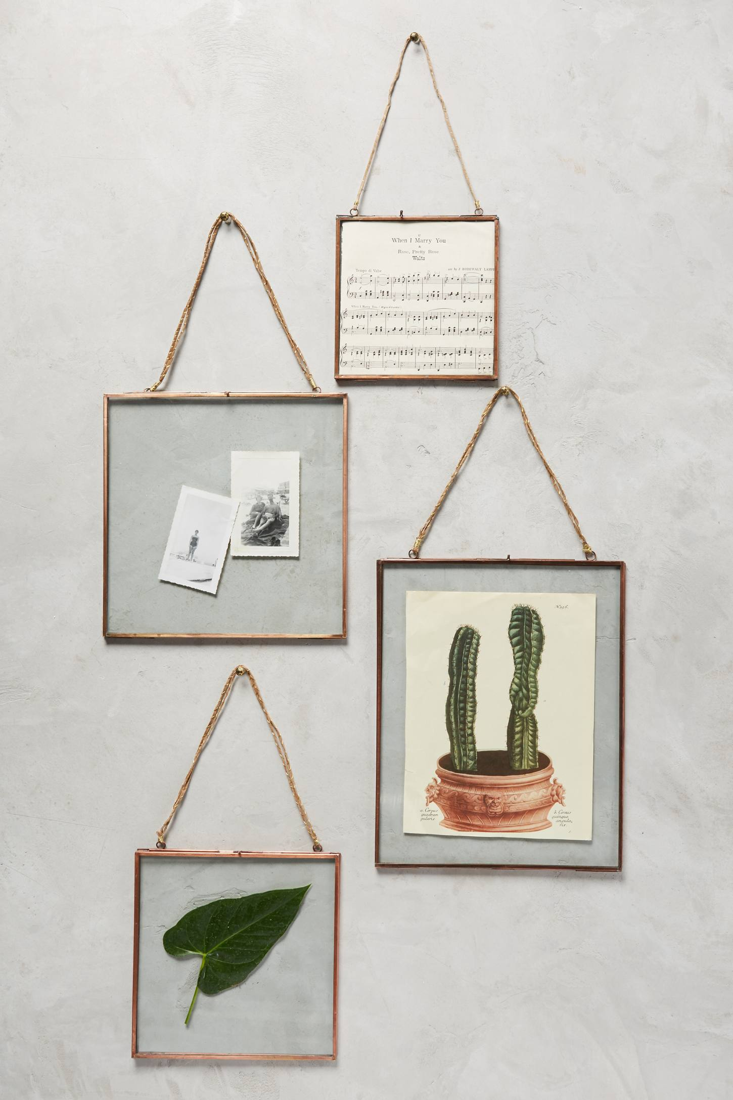 hinged hanging picture frame anthropologie. Black Bedroom Furniture Sets. Home Design Ideas