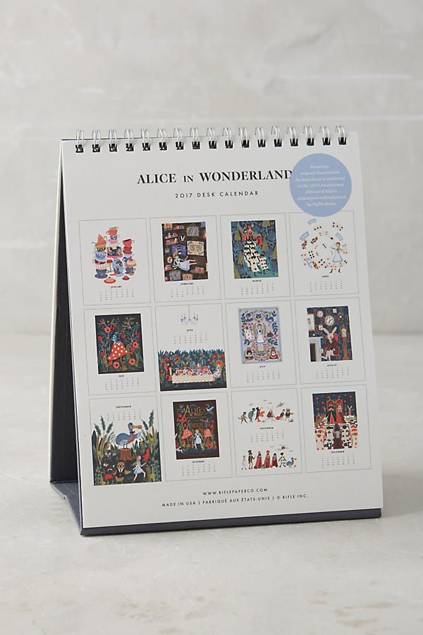 Alice in Wonderland 2017 Desk Calendar