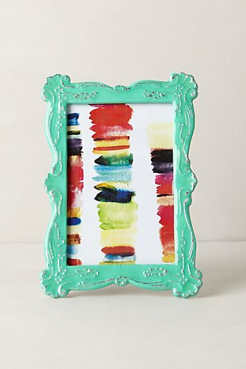 scalloped enamel frame - Mint Picture Frames