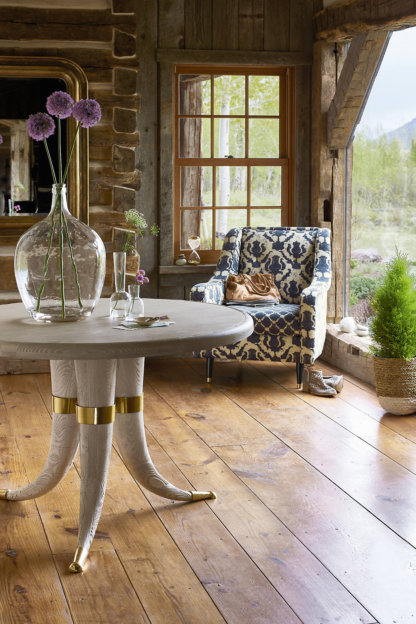 Wooden Tusk Dining Table