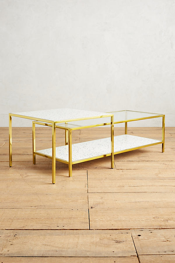 Framed Terrazzo Coffee Tables - Neutral Motif