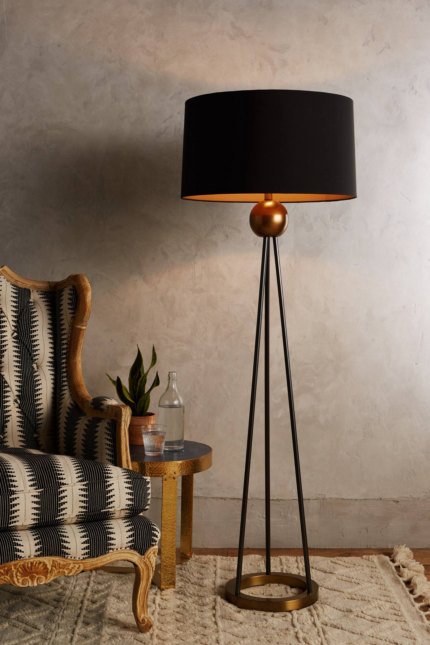 Slide View: 2: Triangulate Floor Lamp Ensemble