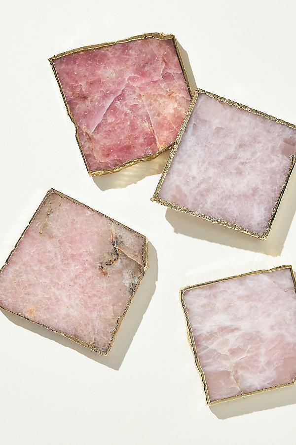 Slivered Geode Coaster - Pink