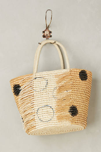 Frayed Dot Tote