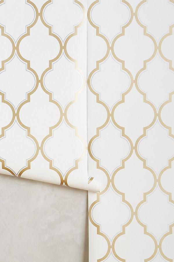 Golden Trellis Wallpaper | Anthropologie