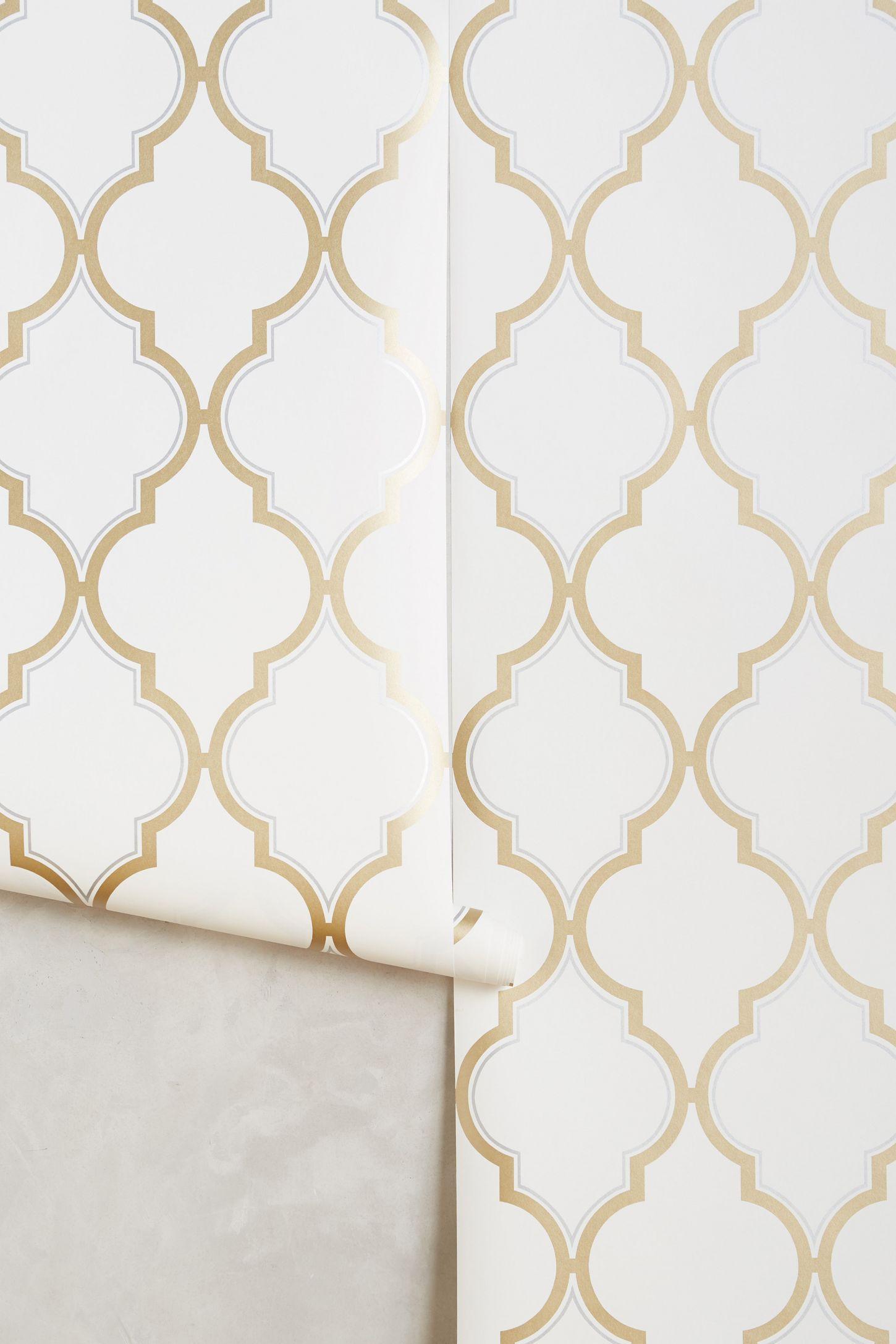 golden trellis wallpaper anthropologie - Trellis Wall Paper