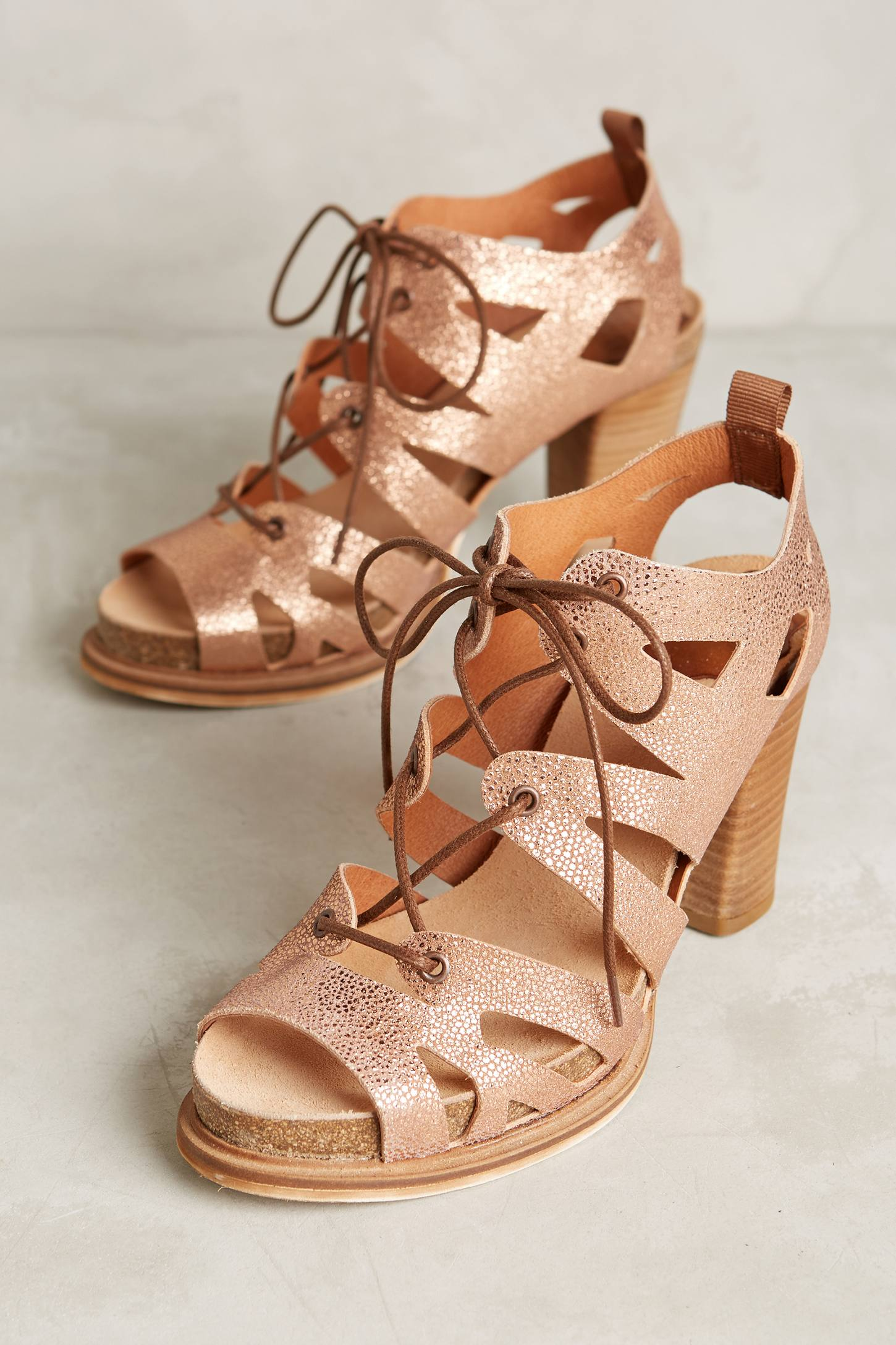 Coqueterra Sanne Lace-Up Heels
