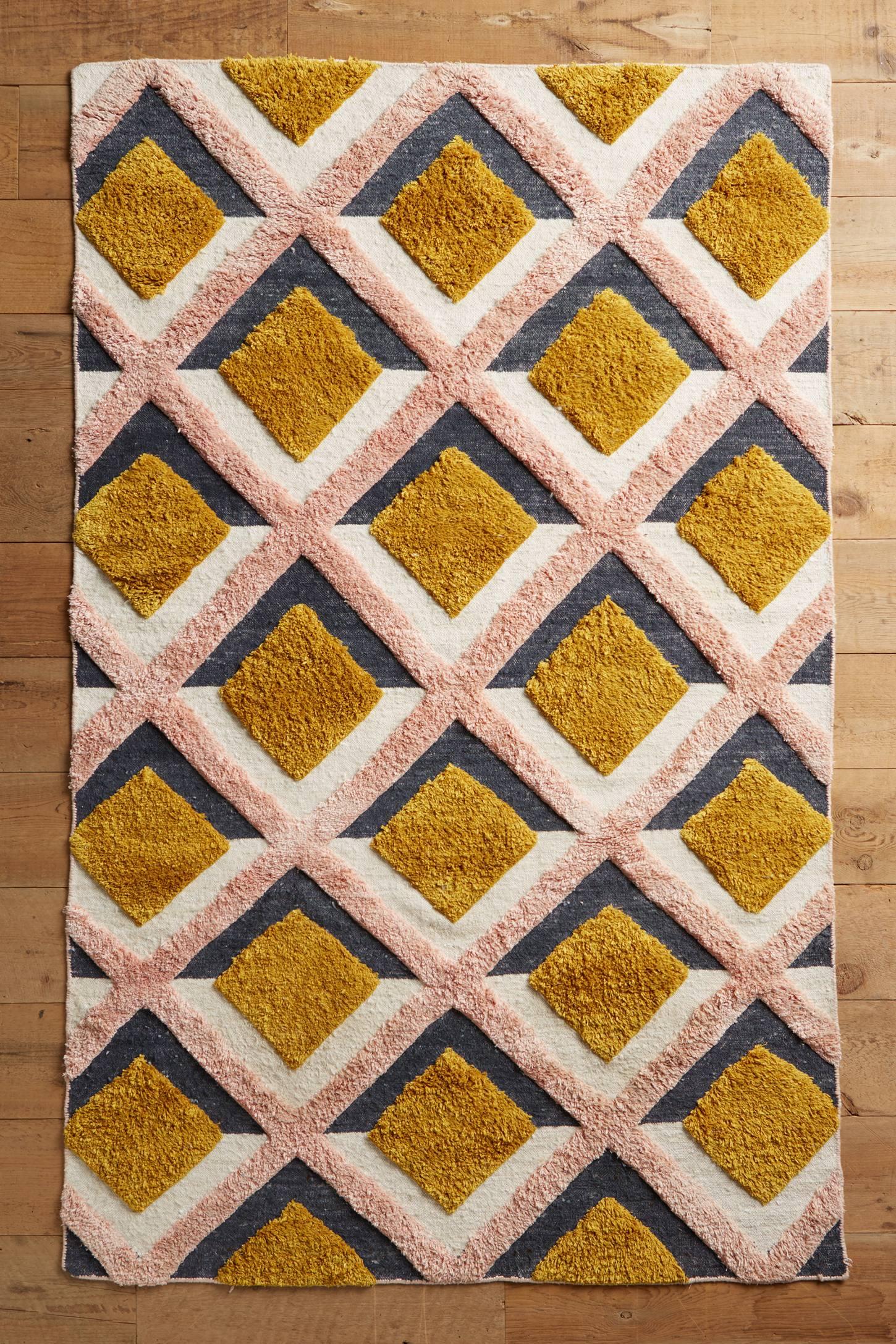 hand tufted trellis rug anthropologie. Black Bedroom Furniture Sets. Home Design Ideas