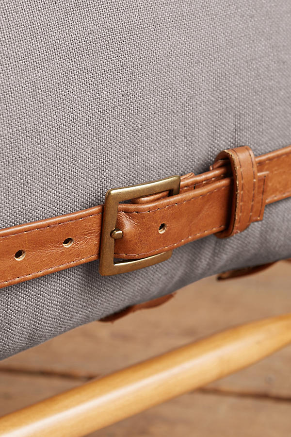Slide View: 3: Belgian Linen Rhys Bench