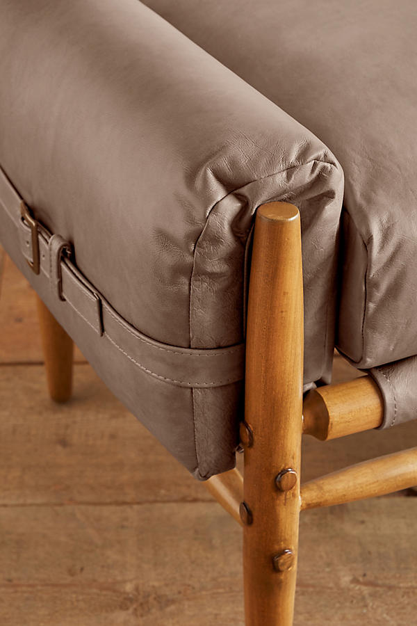 Slide View: 2: Leather Rhys Bench