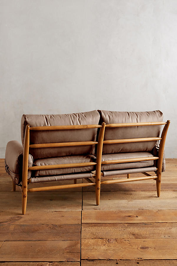 Slide View: 2: Leather Rhys Settee
