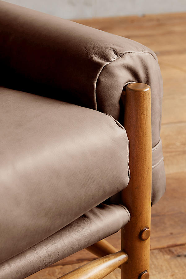 Slide View: 3: Leather Rhys Settee