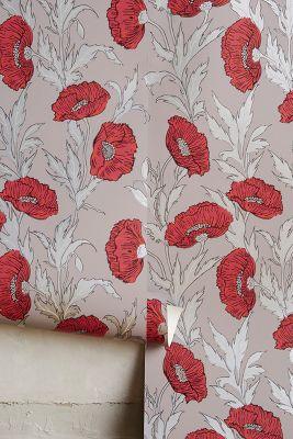 Poppy Wallpaper Home Interior Wallpaper  Anthropologie