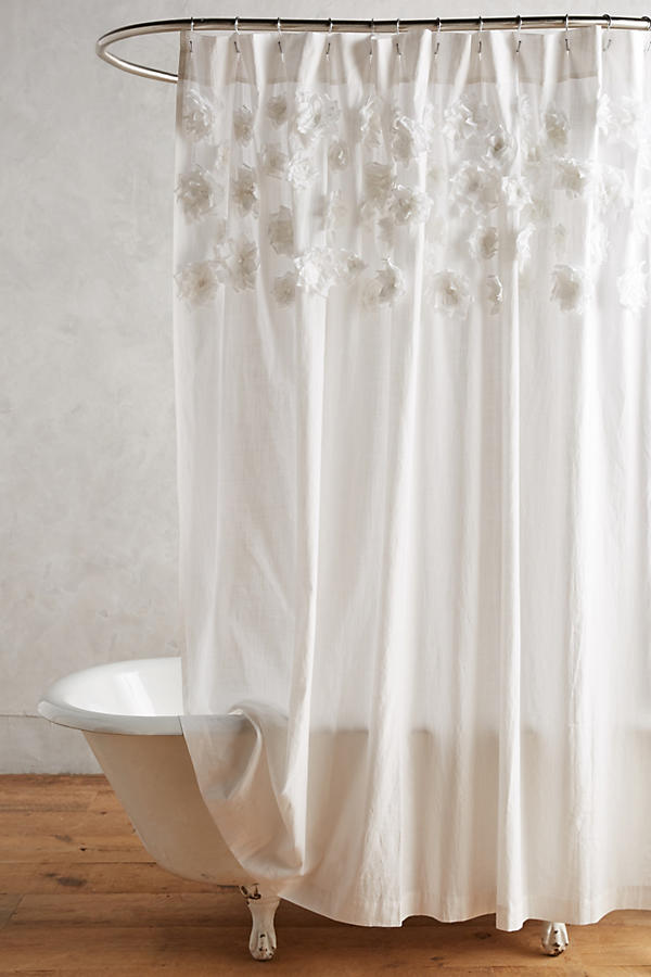 French style shower curtains add stylish texture and color to your ...