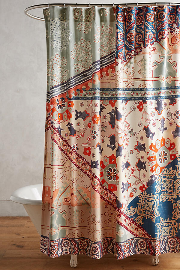 orange and brown shower curtain. Slide View  2 Risa Shower Curtain Anthropologie