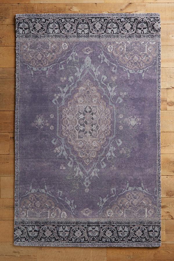 Overdyed Vedado Rug - Lavender, Size 4 X 6