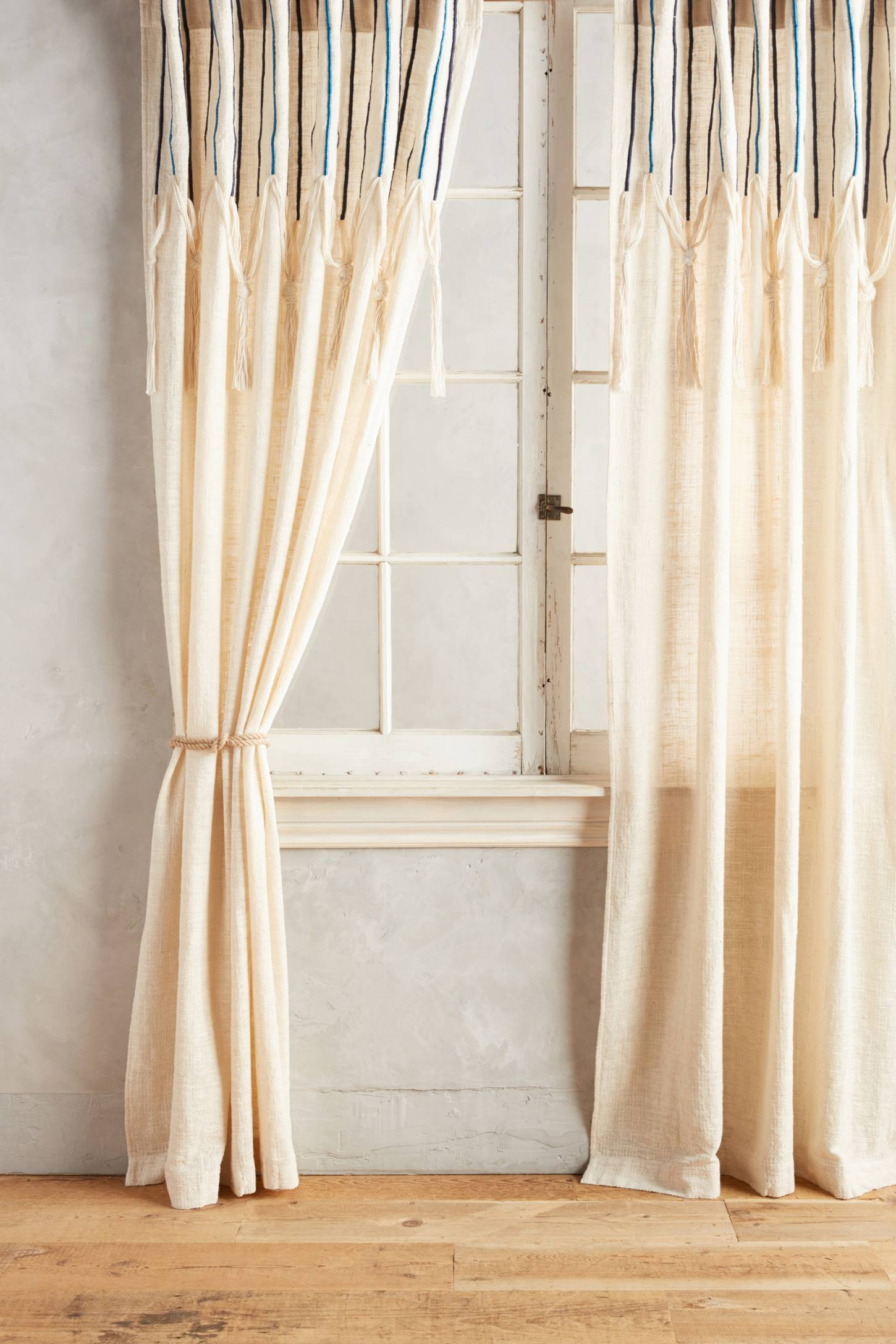 Slide View: 1: Embroidered Leighton Curtain