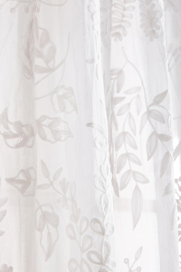 Blanched Flora Curtain