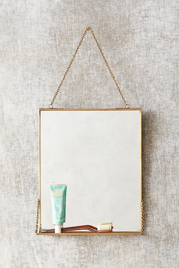 Brass Mirror Shelf - Bronze