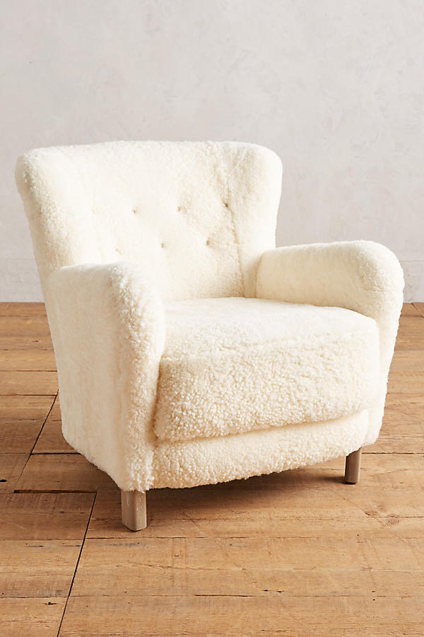 Slide View: 1: Wool Hartwell Chair