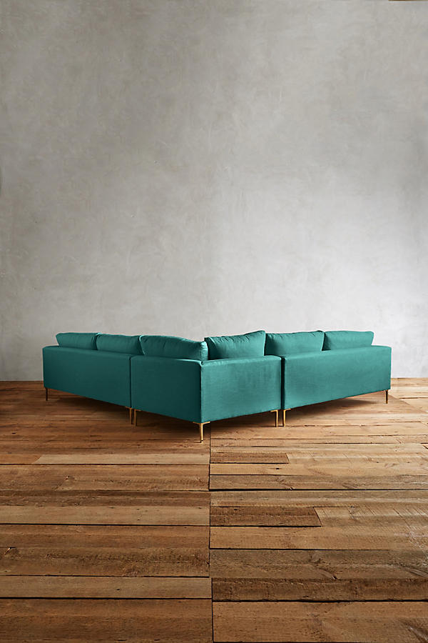 Slide View: 2: Linen Edlyn L-Shaped Sectional