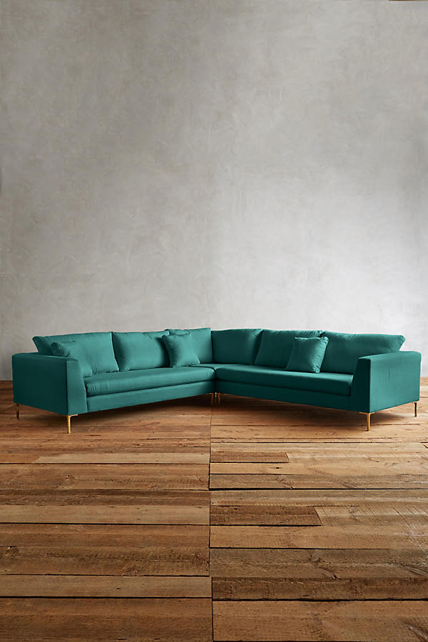 Slide View: 1: Linen Edlyn L-Shaped Sectional