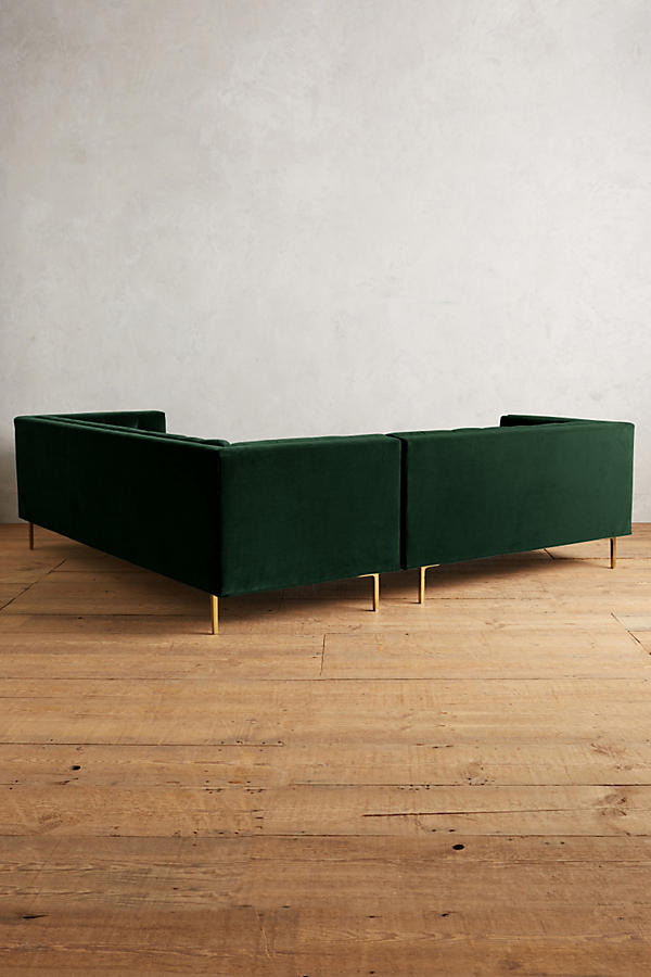 Slide View: 3: Velvet Mina Left Sectional